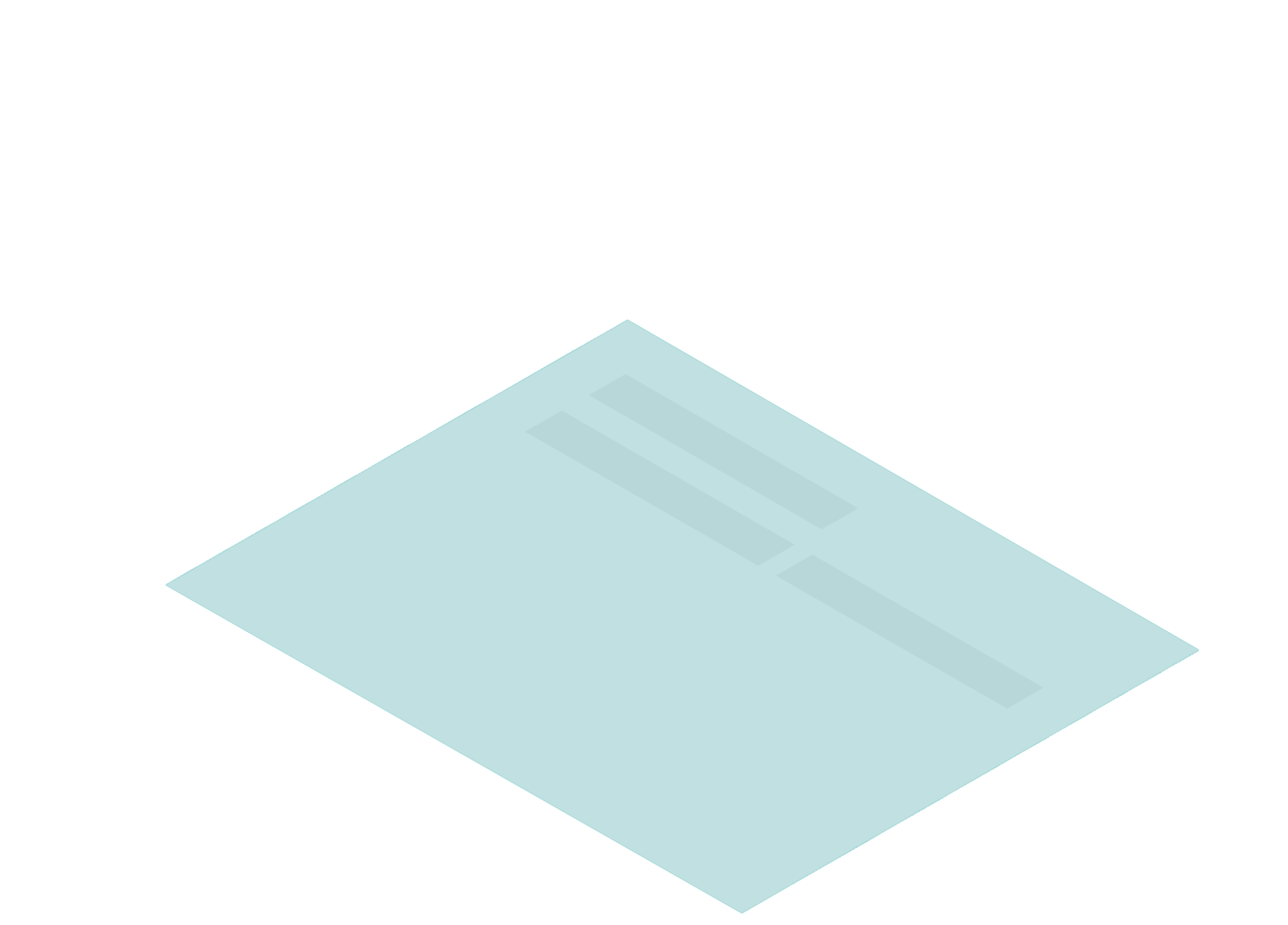Teal screen
